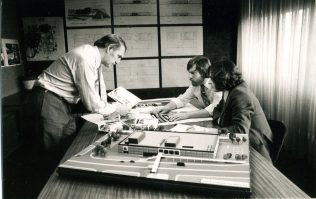 Ray Gorbing with model of the GCT