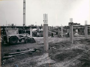 Gordon Craig Theatre Auditorium Raking Beams Under Construction May 1974
