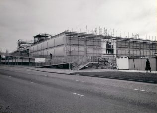 Elevation view of the Gordon Craig Theatre building December 1974