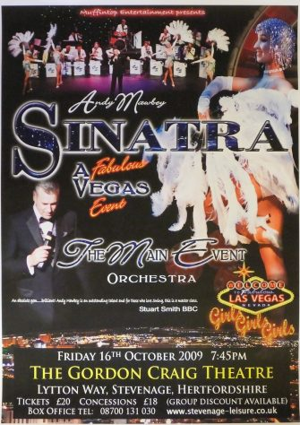 Poster for Andy Mawbey - Sinatra, October 2009