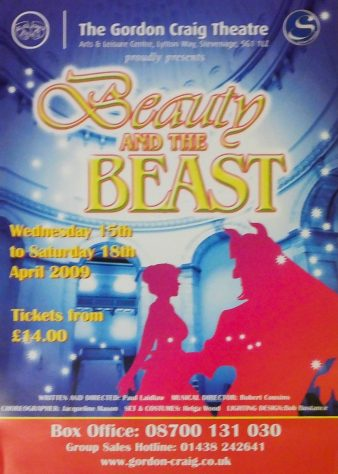 Poster for Beauty and the Beast, April 2009