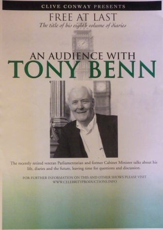 Poster for An Audience with Tony Benn, 2009