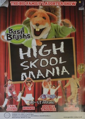 Poster for Basil Brush's High Skool Mania, May 2009