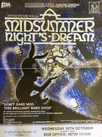 Poster for A Midsummer Night's Dream, October 2002