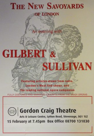 Poster for An Evening with Gilbert and Sullivan, February 2002