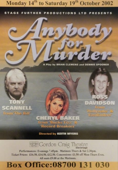 Flyer of Anybody for Murder | Stage Further Productions Ltd