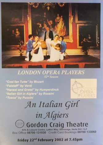 Poster for An Italian Girl in Algiers, February 2002