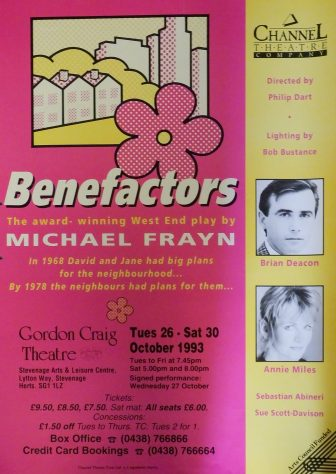 Poster for Benefactors, October 1993