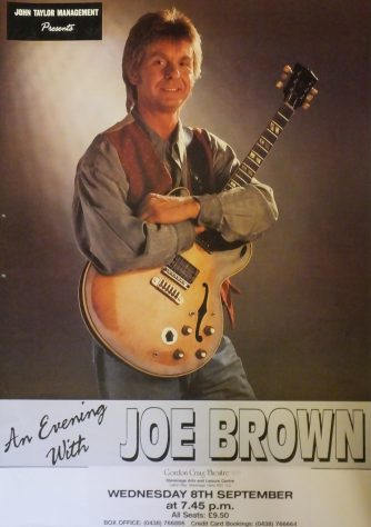 Poster for An Evening with Joe Brown, September 1993