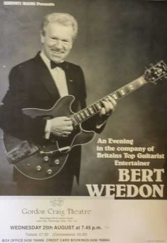 Poster for Bert Weedon, August 1993
