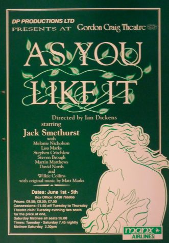 Poster for As You Like It, June 1993
