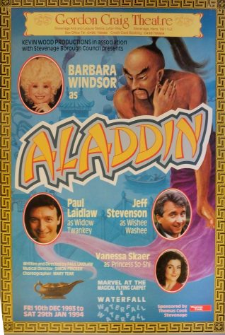 Poster for Aladdin, December 1993 - January 1994