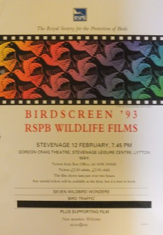 Poster for Birdscreen, February 1993