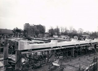 Gordon Craig Theatre Picture Window Units Being Positioned - March 1974