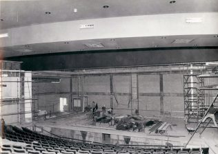 Gordon Craig Theatre Theatre and Stage Area nearing completion September 1975