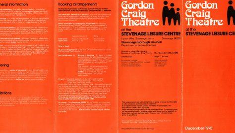 Brochure for December 1975