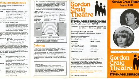 Brochure for August 1981