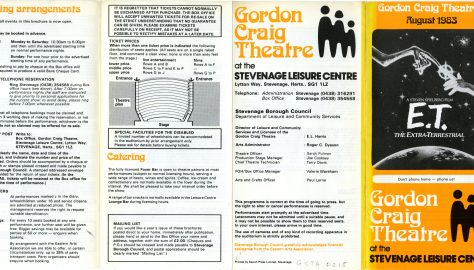 Brochure for August 1983