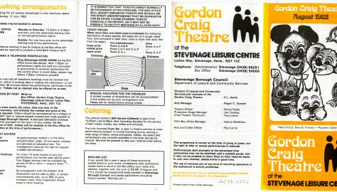 Brochure for August 1982