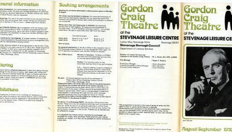 Brochure for August - September 1976