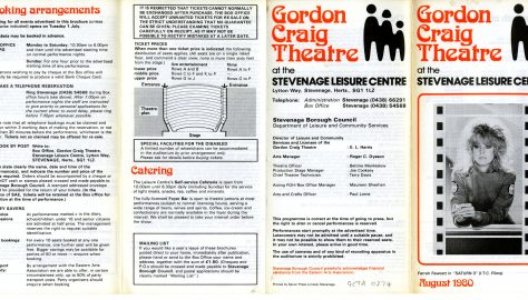 Brochure for August 1980