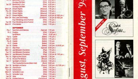 Brochure for August - September 1994