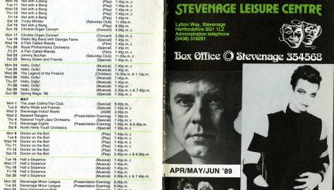 Brochure for April - June 1989