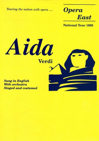 Poster for Aida, February 1995