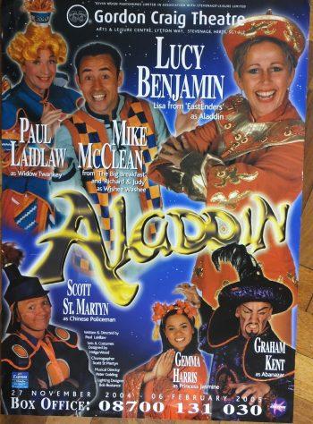 Poster for Aladdin, November 2004 - February 2005