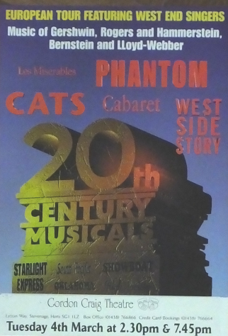 Poster for 20th Century Musicals, March 1997