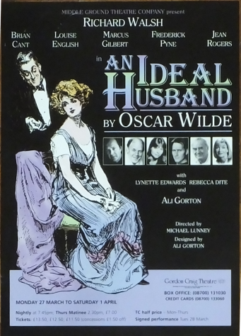 Poster for An Ideal Husband, March - April 2000