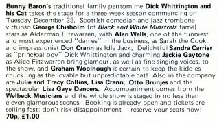 Brochure Details for 1975 Pantomime at The Gordon Craig Theatre